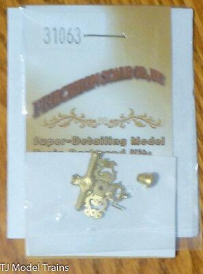 Precision Scale HO #31063 (Brass Kit) Bell, 5.0mm, Cast w/Ornate Bracket