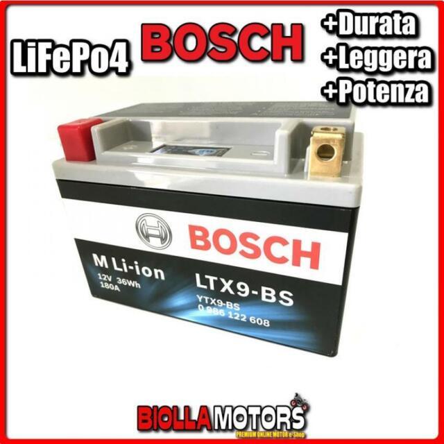 LTX9-BS BATTERIA LITIO 12V BOSCH YTX9-BS LifePo4 0986122608 YTX9BS MOTO SCOOTER