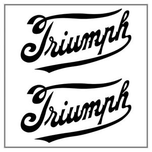 2-Autocollants-Stickers-Decals-Triumph-Vintage-20x11-6cm