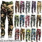 MEN MILITARY ARMY CAMOFLAUGE CAMO CARGO PANT COMBAT CARGO PANTS DIFFERENT COLOR