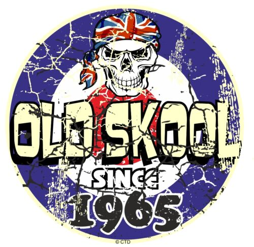 Distressed Aged OLD SKOOL Since 1965 Mod Style Target Motorcycle car sticker