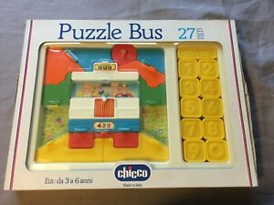 Chicco-Puzzle-Bus-mit-27-Teilen-Zahlen-Lernspiel-von-3-6-Jahren-Vintage