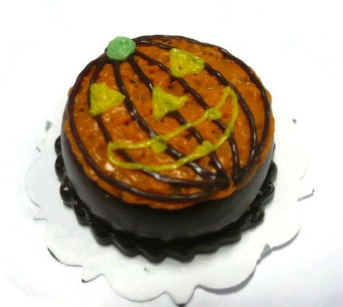Halloween Cake Jack-O-Lantern Dollhouse Miniatures Food Deco Holiday Season 5