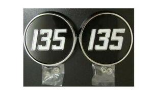 Massey Ferguson 135 Tractor Side Bonnet Badge//Medallion DECAL STICKER x 2