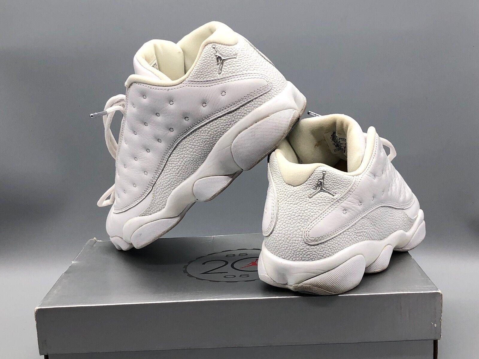 Nike air jordan retro - 13 niedrigen weiß / / silber / / Weiß 310810 103 096680