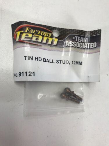 NEW Team Associated 12mm Titanium Nitride Heavy Duty Ballstuds 91121