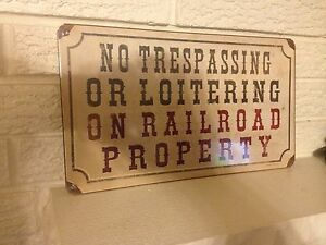 034-No-Trespassing-Or-Loitering-On-Railroad-Property-034-Sign-14-034-x-8-034-Aluminum-New