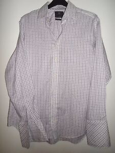 MARKS-AND-SPENCER-RED-BLUE-amp-WHITE-CHECKED-PURE-COTTON-SHIRT-SIZE-16-5-42
