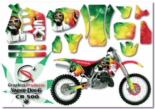Honda CR500 1989-2001 Custom Kit Graphics Full Set Design Snoop Dog Sticker