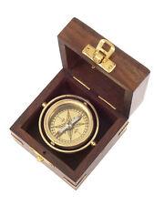 Kasper /& Richter Handcrafted Nostalgic Trinidad Compass in wooden dipslay case
