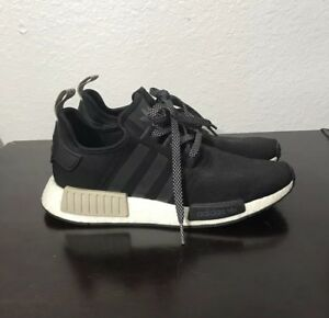 outlet store ca988 fe97c Details about Adidas Nmd R1 Black Tan Mens 8 Womens 10