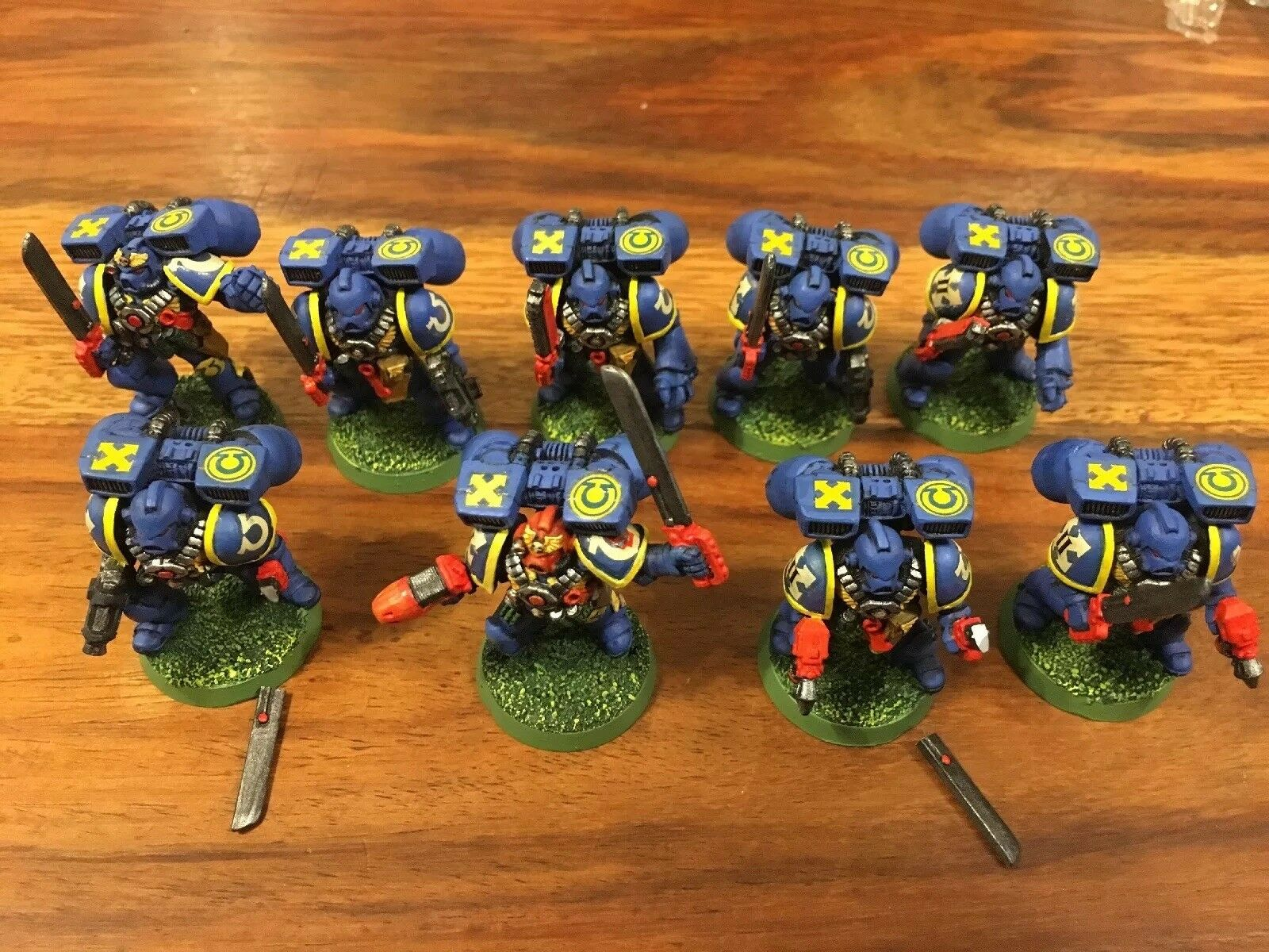 Paquetes de asalto marines con salto de metal Ultramarines X9 Warhammer 40k Lote De Trabajo
