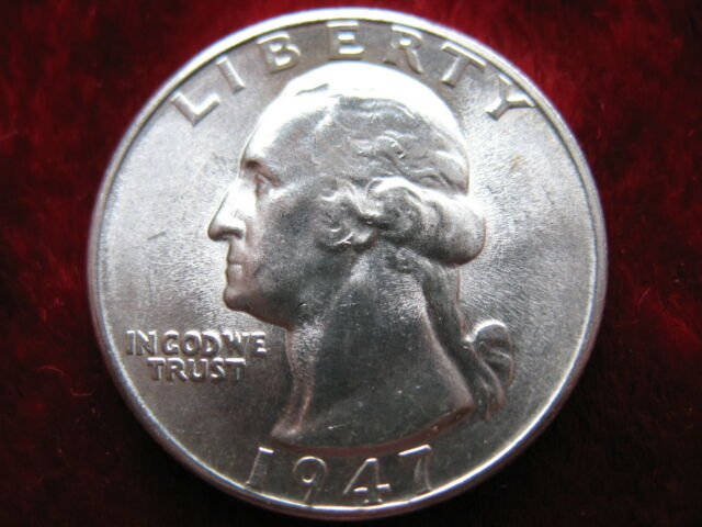 1947-D   US   Silver  Washington  Quarter   Circulated