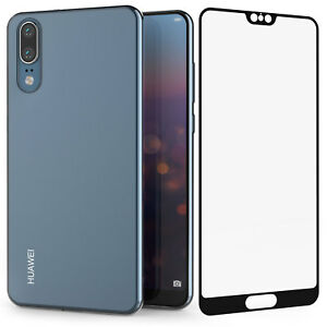 reputable site 450f1 d914f Details about Huawei P20 / P20 Pro Case Clear Silicone Cover & Tempered  Glass Screen Protector