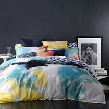 Logan and Mason FESTIVAL MULTI Chevron Queen Size Doona Duvet Quilt Cover Set