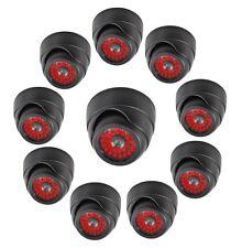 10 PACK Indoor Dummy Fake Black Dome Security Camera Cameras,30 Illuminating LED