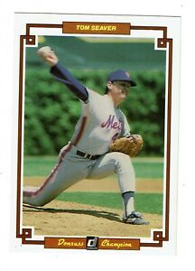 Details About Oversized Tom Seaver Mets Baseball Card Mint Donruss Champion 40 1984