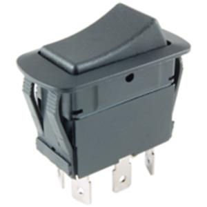 NTE Electronics 54-229W ROCKER SWITCH WATERPROOF DPDT 21A .25 QC TERMINALS