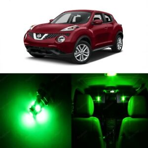 8 x Green LED Interior Light Package For 2011 - 2017 Nissan Juke + PRY TOOL