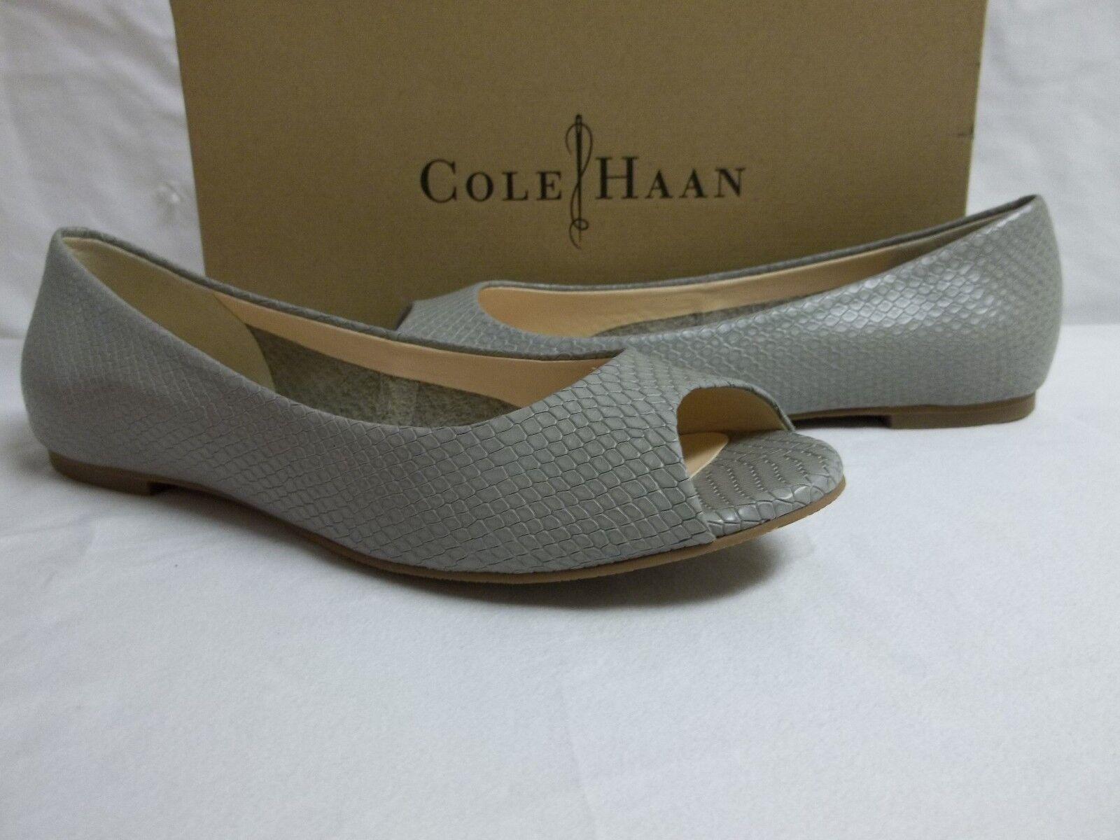 Cole Haan Größe 5.5 M Morgan Paloma Leder Snake Flats NEU Damenschuhe Schuhes NWOB