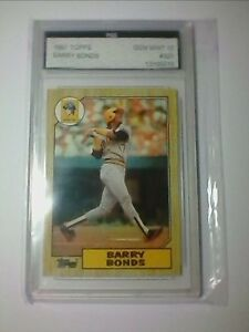 Details About 1987 Topps Barry Bonds Rookie Card 320 Error Fgs 10 Incomplete 3 At 320