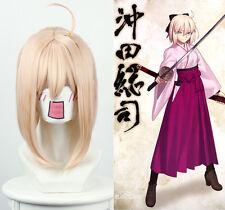 Fate / Grand Order Sakura Saber Shinto Shibuya Dusk Yellow Half Shots  Wig 40cm