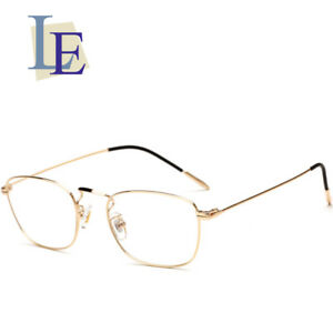 2f0d158452 LE Hippie Square Glasses Frame Ultra-thin Myopia Reading Eyewear Rx ...