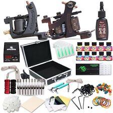 Dragonhawk Complete Tattoo Kit 2pcs Coil Tattoo Machine Tattoo Guns 10 Color ...