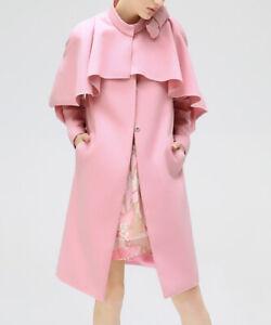 Femme Rose Veste Taille 6 Retro Manteau Avec Cape Col Et Poches-afficher Le Titre D'origine Nourrir Les Reins Soulager Le Rhumatisme