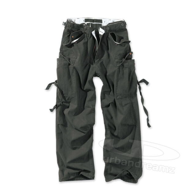 SURPLUS™ VINTAGE FATIGUES TROUSERS Cargo Hose Worker Biker Rock Baggy Army M65
