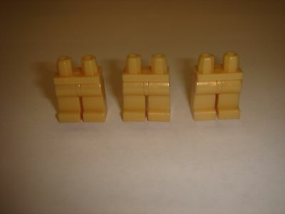 3 Lego Pearl Gold Plain Legs parts For Star Wars City Space Minifigure New lot