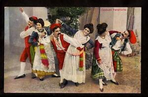 Details About Early Dancers Traditional Dress Tarantella Italy Costume Postcard