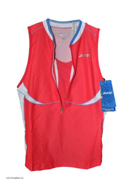 New Womens Zoot TriFit Tank swim cycling running triathlon w/sports endura bra S