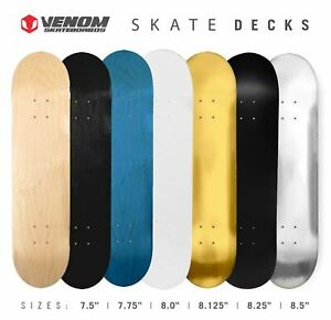 Venom-Skateboards-Pro-Decks-7-Ply-FREE-GRIP-7-5-034-7-75-034-8-034-8-125-034-8-25-034-8-5-034