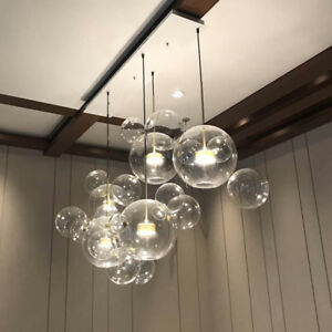 Details About Led Lighting Diningroom Ceiling Lamp Gl Modern Globe Pendant Light Chandelier