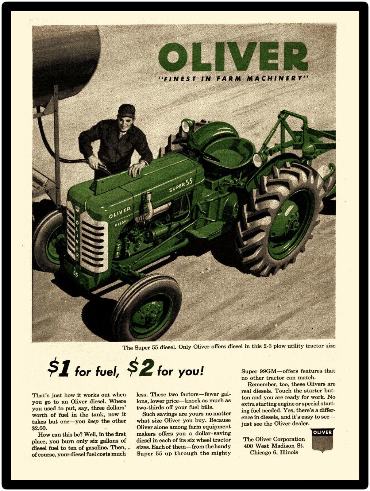 Oliver Farm Tractors New Metal Sign Model Super 55 Diesel Featured Ebay