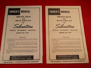 Vintage-Silvertone-1484-Twin-Guitar-Amplifier-Instruction-Manual-Schematic-60-039-s