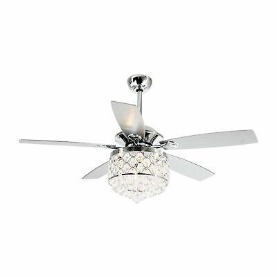 52 Reversible Crystal Ceiling Fan 4 Light W Remote Control Chandelier Fan 6218 Ebay