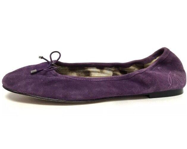 Women's Purple Suede Sam Edelman 'Felicia' Ballet Flats Size 7M  New!