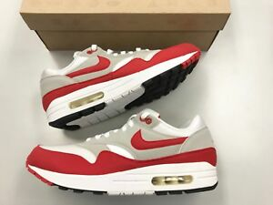 2009 Nike Air Max 1 QS US Men's Size 11 Sneakers Red White