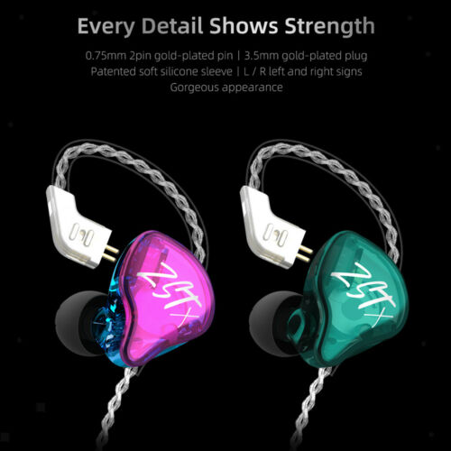KZ ZST X In Ear Kopfhörer 1BA 1DD Bass Kopfhörer Ohrhörer für