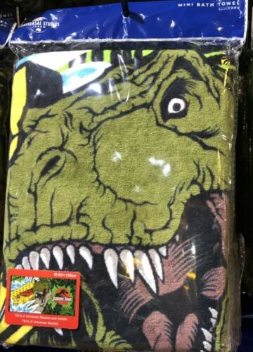 Jurassic park world Green rex mini bath towel 500x1000mm USJ 2020 limited japan