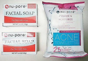 NU-PORE Acne Cleansing & Moisturizing Towelettes MISSAMMY ZGTS Titanium 192 Micro Needle Derma Roller Anti-Age Wrinkles Scars Acne 0.5mm