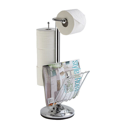 Zeitungsständer WC Standgarnitur TOILETTENCADDY Toiletten-Papierhalter