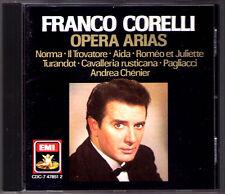 Franco CORELLI: OPERA ARIAS Trovatore Aida Turandot Pagliacci Andrea Chenier CD