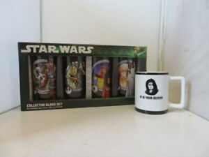 Star Wars Collector Glass Set and coffee cup