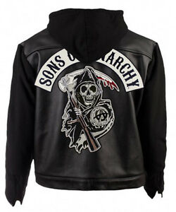 soa sons of anarchy highway motorcycle biker real leather. Black Bedroom Furniture Sets. Home Design Ideas