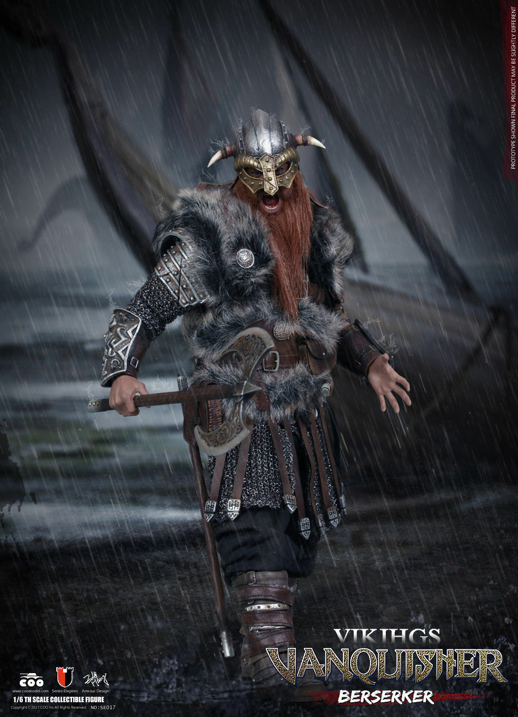 Coomodel vikings berserker se017 did action figure 1 6 12'' boxed dragon