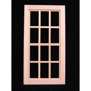 Playscale Window 12 Panes Miniature Dollhouse 95024 1 8 1 6 Scale