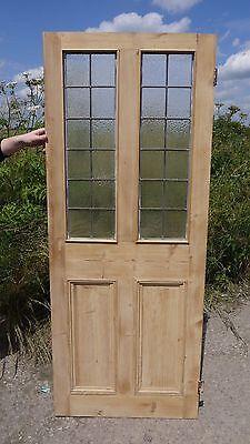 SG12 (27 3/4 x 69 3/4) Old Original Leaded Glass Victorian Period Pine Door